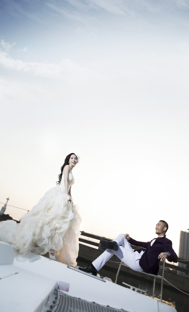 Ảnh cưới Quỳnh Nga - Doãn Tuấn chụp ở Hàn Quốc gây sốt - anh 9
