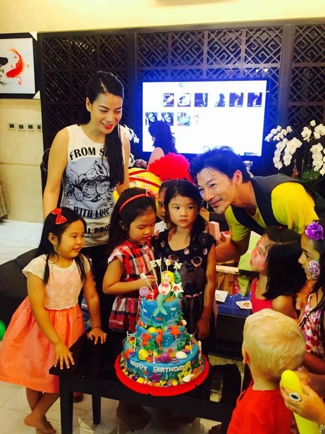 Trương Ngọc Ánh tái hợp Trần Bảo Sơn tổ chức sinh nhật cho con gái - anh 1