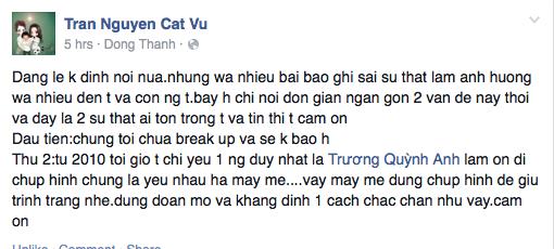 Tim khẳng định không bao giờ chia tay Trương Quỳnh Anh - anh 2