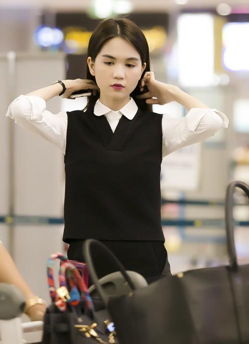 Ngọc Trinh nổi bật ở sân bay với style nữ sinh - anh 5