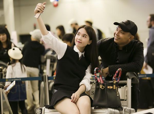 Ngọc Trinh nổi bật ở sân bay với style nữ sinh - anh 4