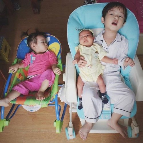 Vẻ đáng yêu của 3 thiên thần nhà Lý Hải - Minh Hà - anh 11