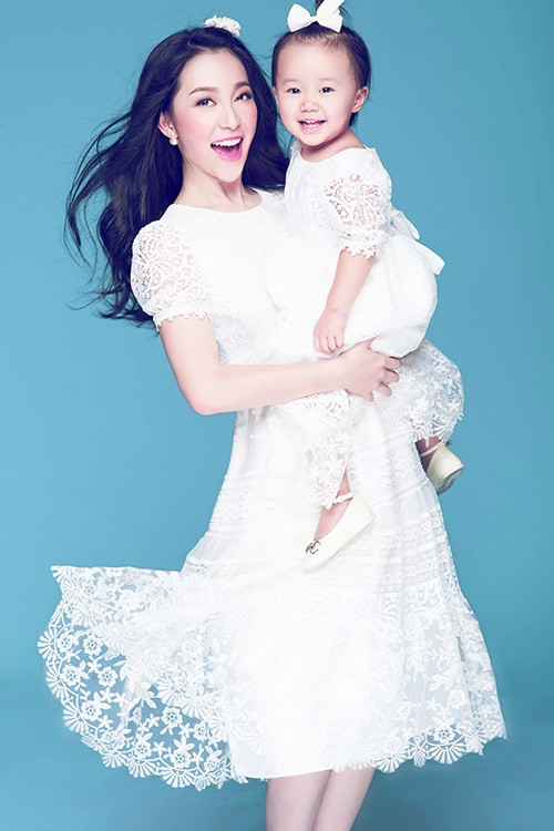 Vẻ đẹp thiên thần của Linh Nga và con gái - anh 2
