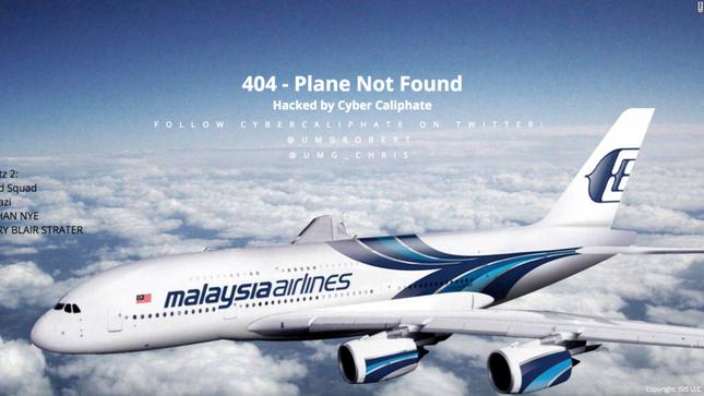 Hàng không Malaysia Airlines bị tin tặc của IS tấn công - anh 1