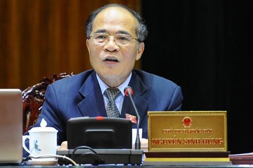 Chủ tịch Quốc hội Nguyễn Sinh Hùng: Làm sai là vi hiến - anh 1
