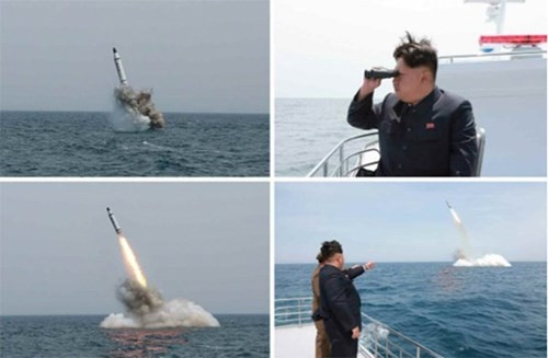 """Mỹ """"bóc mẽ"""" công nghệ photoshop ảnh phóng tên lửa từ tàu ngầm của Triều Tiên - anh 3"""