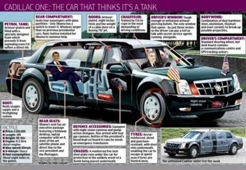 """Khám phá chiếc xe """"Quái vật"""" của Tổng thống Obama - anh 6"""