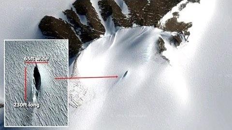 Phát hiện vật thể nghi UFO vùi trong tuyết ở Nam Cực - anh 2