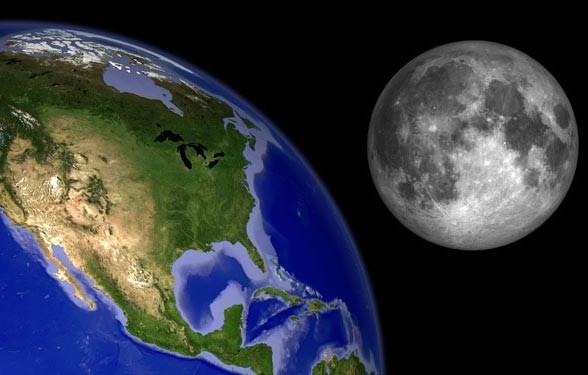 Mặt Trăng ngày càng teo nhỏ đi vì.... Trái đất - anh 3