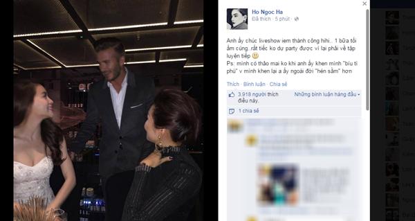 Beckham khen Hồ Ngọc Hà xinh gái - anh 1