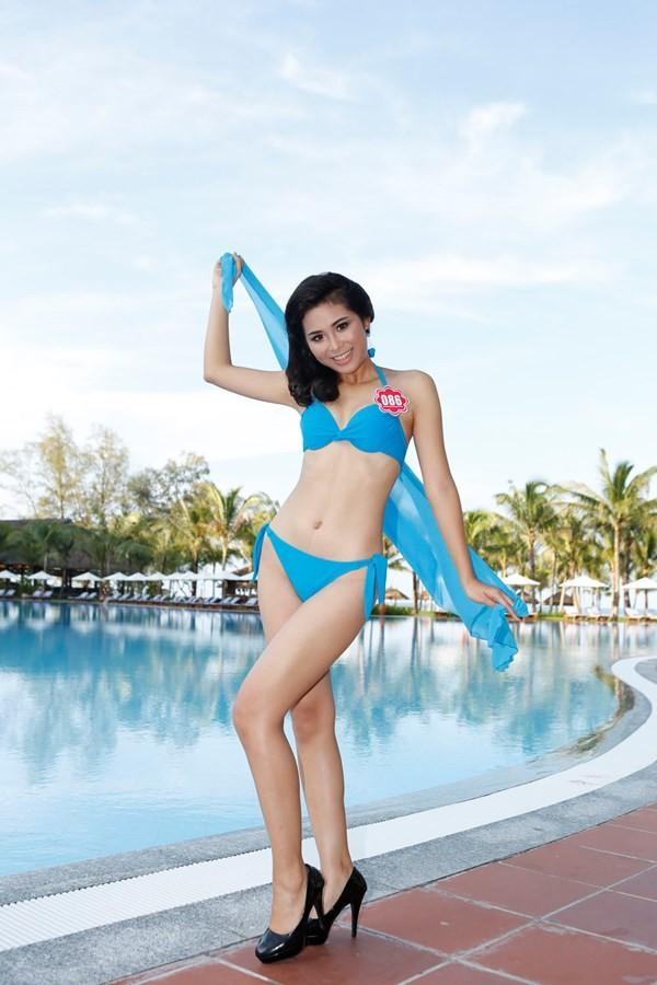 Chiêm ngưỡng thí sinh hoa hậu Việt Nam mặc bikini tạo dáng nóng bỏng - anh 7