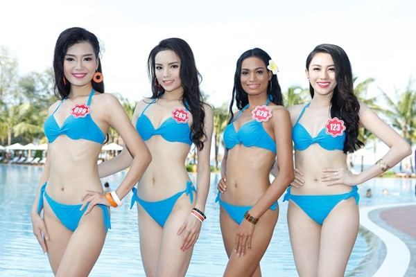 Chiêm ngưỡng thí sinh hoa hậu Việt Nam mặc bikini tạo dáng nóng bỏng - anh 9