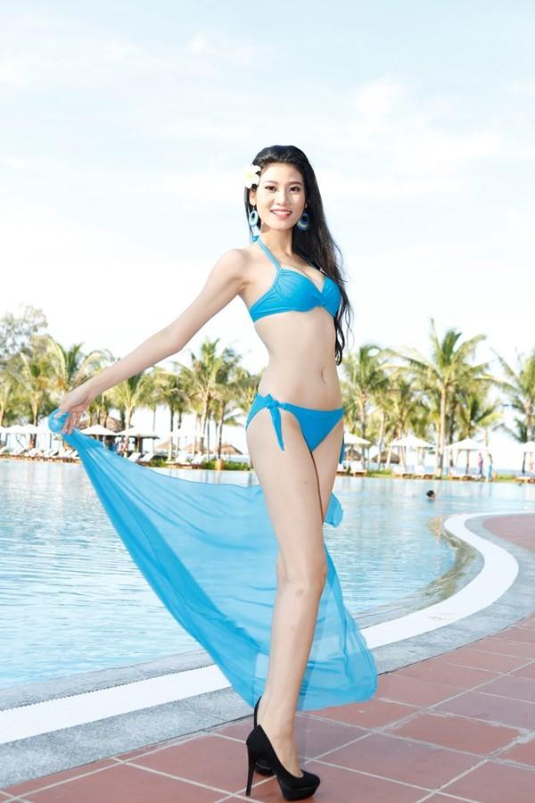 Chiêm ngưỡng thí sinh hoa hậu Việt Nam mặc bikini tạo dáng nóng bỏng - anh 10