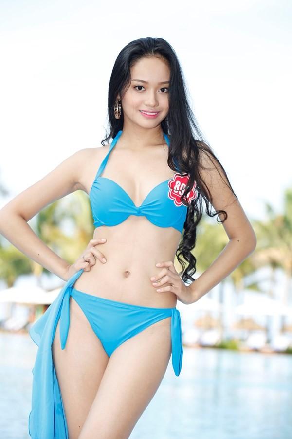 Chiêm ngưỡng thí sinh hoa hậu Việt Nam mặc bikini tạo dáng nóng bỏng - anh 11