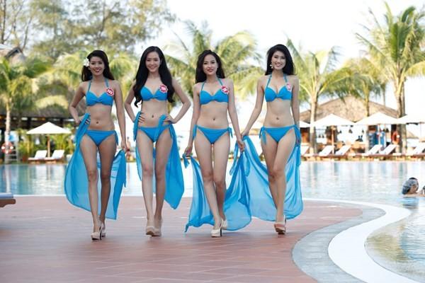 Chiêm ngưỡng thí sinh hoa hậu Việt Nam mặc bikini tạo dáng nóng bỏng - anh 6