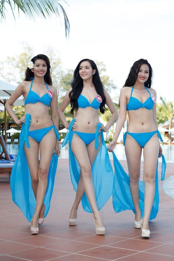 Chiêm ngưỡng thí sinh hoa hậu Việt Nam mặc bikini tạo dáng nóng bỏng - anh 3
