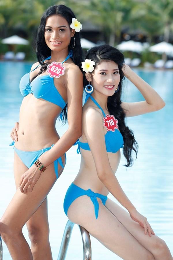 Chiêm ngưỡng thí sinh hoa hậu Việt Nam mặc bikini tạo dáng nóng bỏng - anh 4