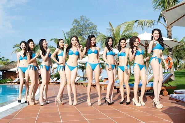 Chiêm ngưỡng thí sinh hoa hậu Việt Nam mặc bikini tạo dáng nóng bỏng - anh 1