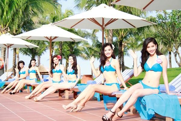 Chiêm ngưỡng thí sinh hoa hậu Việt Nam mặc bikini tạo dáng nóng bỏng - anh 2