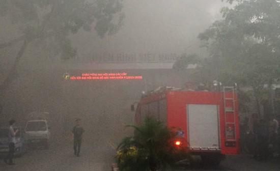 Cháy dữ dội ở Đài truyền hình Việt Nam - anh 1