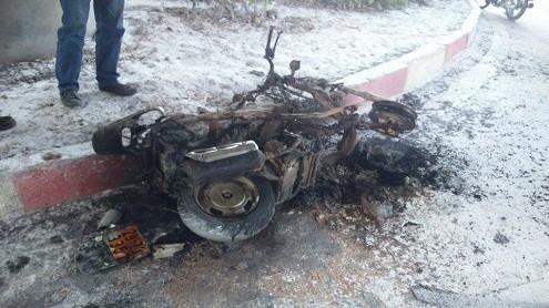 Hà Nội: Xe máy Attila bỗng dưng bốc cháy gần bến xe Mỹ Đình - anh 1
