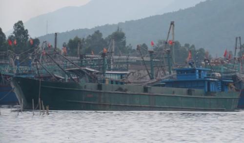 Biên phòng Nghệ An bắt tàu đổ chất thải xuống biển - ảnh 1