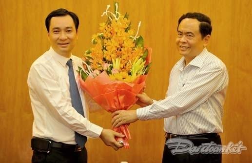 Ông Vũ Văn Tiến nhận quyết định bổ nhiệm TBT Tạp chí Mặt trận - ảnh 3