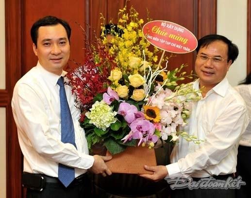 Ông Vũ Văn Tiến nhận quyết định bổ nhiệm TBT Tạp chí Mặt trận - ảnh 7