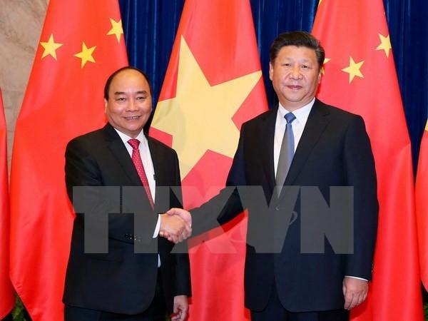 Thủ tướng hội kiến Tổng Bí thư, Chủ tịch nước Trung Quốc Tập Cận Bình - ảnh 1