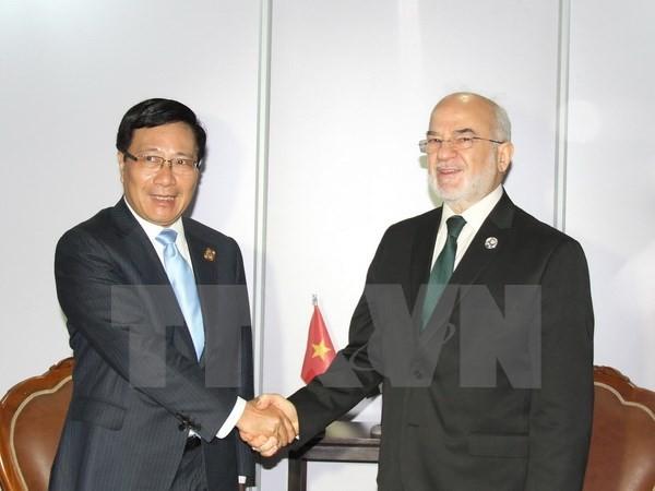 Phó Thủ tướng Phạm Bình Minh hội kiến Tổng thống Venezuela - ảnh 2