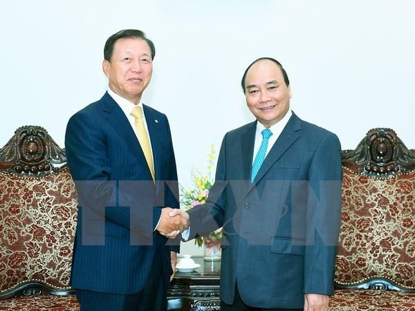 Thủ tướng tiếp lãnh đạo các Tập đoàn CJ và GS của Hàn Quốc - ảnh 1