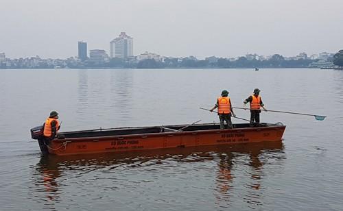 Hơn 70 tấn cá chết ở hồ Tây được tiêu hủy - ảnh 2