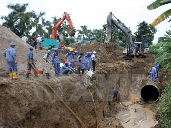Hà Nội: Đường ống Sông Đà lại gặp sự cố lần thứ 20 - ảnh 1