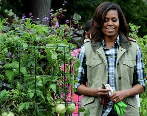 Bà Hillary hứa sẽ chăm sóc vườn rau của nhà Obama nếu đắc cử - ảnh 4