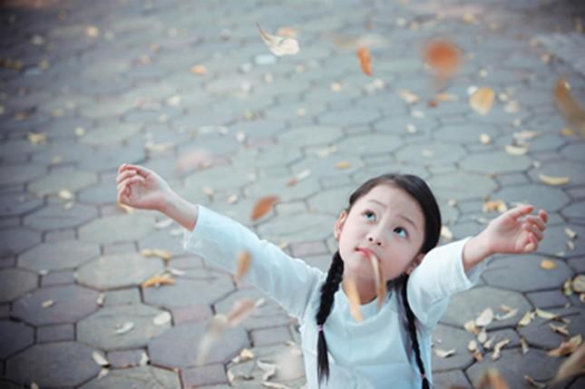 Bé gái mặc áo dài chụp ảnh cùng cúc họa mi - ảnh 8