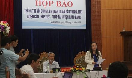 Họp báo về nhà máy thép nghìn tỷ ở Quảng Nam - ảnh 1