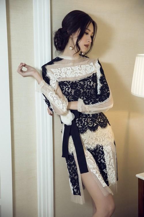 Hoa hậu Thu Thảo hóa cô dâu với váy cưới xuyên thấu - ảnh 6