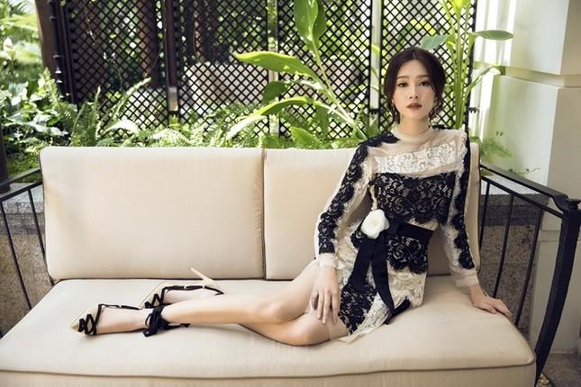 Hoa hậu Thu Thảo hóa cô dâu với váy cưới xuyên thấu - ảnh 7