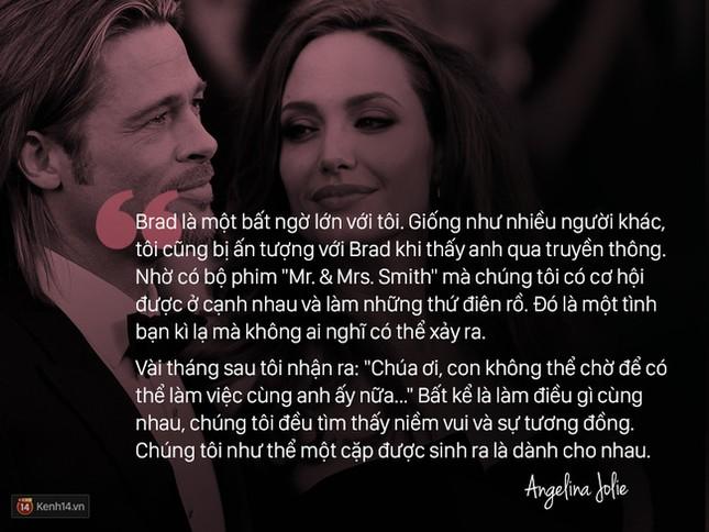 """12 năm qua, Angelina đã nói: """"Anh ấy không chỉ là tình yêu, mà là mái ấm"""" - ảnh 1"""
