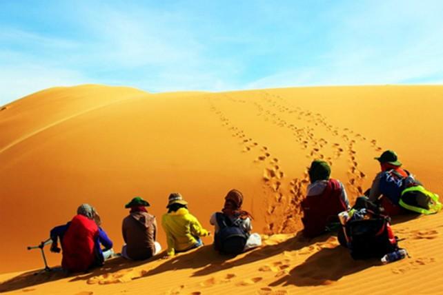 Trekking qua những đồi cát tuyệt đẹp ở Bình Thuận - ảnh 10