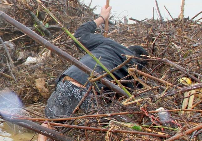 Nhiều người bất chấp nguy hiểm vớt gỗ giữa lũ - ảnh 8
