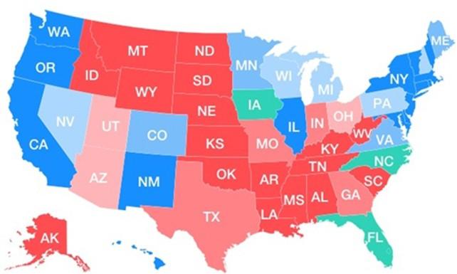 Clinton có thể thắng sít sao, nhưng nước Mỹ đối mặt nguy cơ chia rẽ - ảnh 1