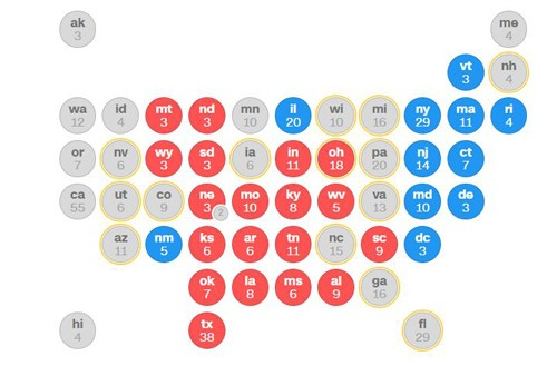 Tình thế căng thẳng tại các bang chiến trường trong bầu cử Mỹ - ảnh 1