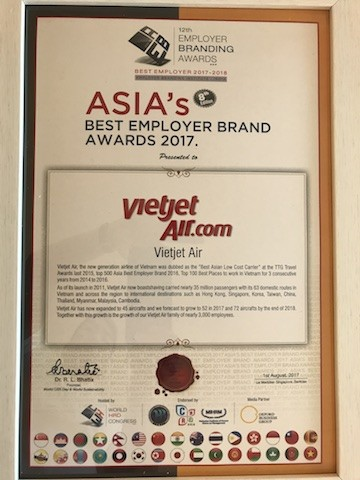 Vietjet tiếp tục là Thương hiệu tuyển dụng tốt nhất Châu Á                                  - ảnh 1