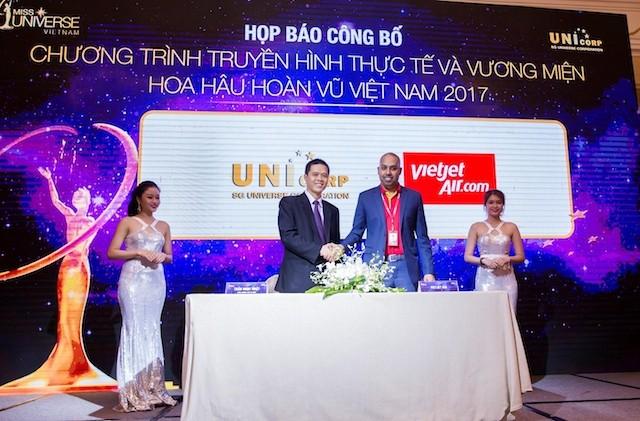 Vietjet đồng hành cùng Hoa hậu Hoàn vũ Việt Nam 2017 - ảnh 1