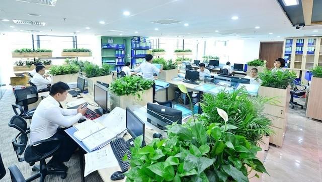 Văn phòng xanh đáng mơ ước của dân công sở - ảnh 1
