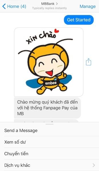 Giao dịch tài chính bằng 'chat' qua Facebook Messenger    - ảnh 1