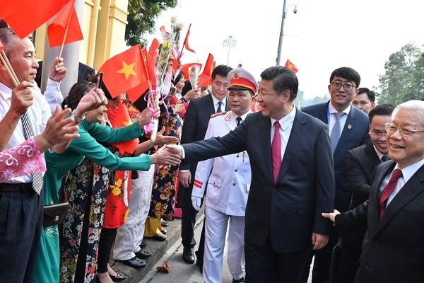 Lễ đón Chủ tịch Trung Quốc Tập Cận Bình tại Hà Nội - ảnh 1