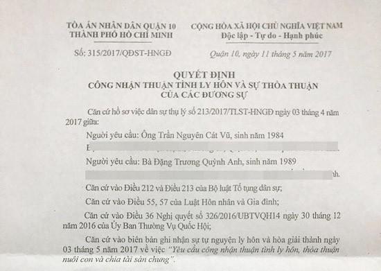 Vợ chồng Trương Quỳnh Anh lộ đơn ly hôn dù luôn khẳng định hạnh phúc - ảnh 1