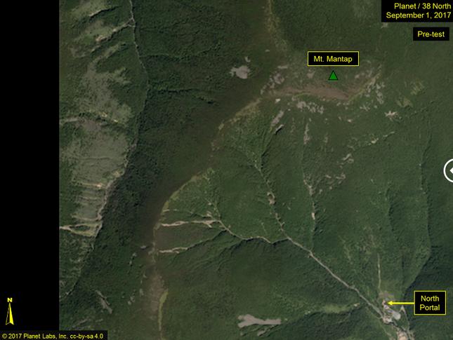Hình ảnh đầu tiên tại nơi thử bom hạt nhân mạnh nhất của Triều Tiên - ảnh 1